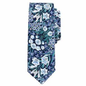 J Crew Tie Preppy Floral Liberty Print Blue NWT